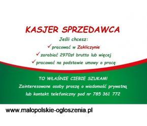 Kasjer - Sprzedawca